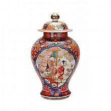 Imari Figural Jar and Cover, Edo Period, 19th Century
