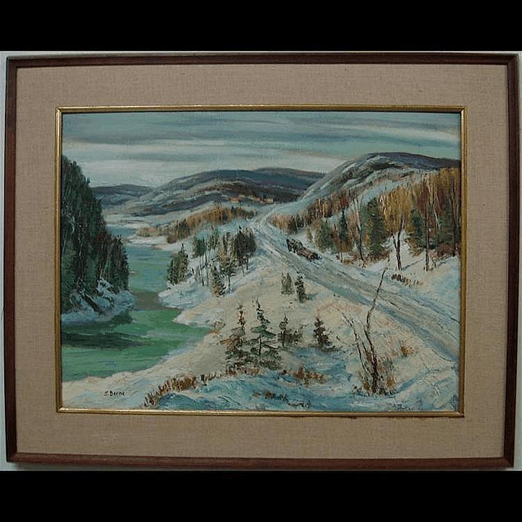 SYDNEY BERNE (CANADIAN, 1921-) LOGGING - ST.