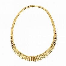 Italian 18k Yellow Gold Fringe Necklace
