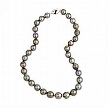 Single Graduated Strand Of Tahitian Pearls