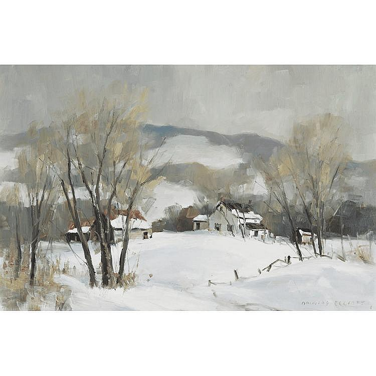 DOUGLAS ELLIOTT HILLCOUNTRY HOMESTEAD, oil on