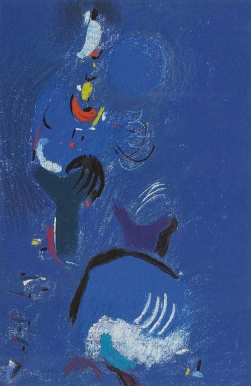 MAX ACKERMANN (1887-1975), German LOB DES BLAU