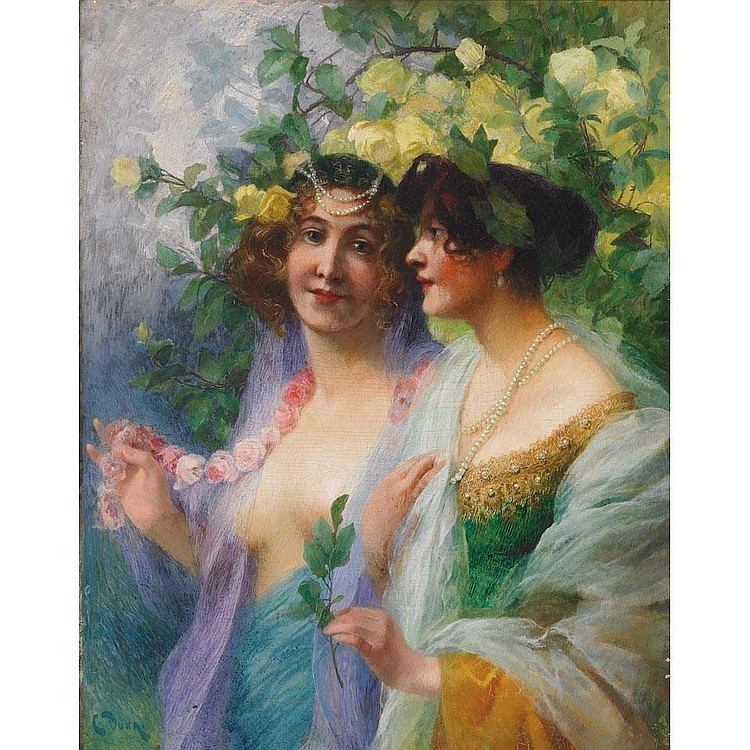 Carl Duxa (1871-1937), Austrian LADIES IN A SPRING