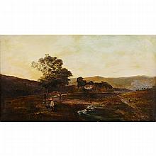 Charles Leslie (c.1835-1890), WELSH PASTURES, Oil on canvas; signed lower left, 24