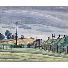 Ethelbert White (1891-1972), THE TERMINUS POINT, Watercolour and ink; signed lower left, Sight 11.5