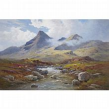Alfred Fontville de Breanski (1877-1955), IN THE ISLE OF SKYE, Oil on canvas; signed lower right, signed and titled verso, 24