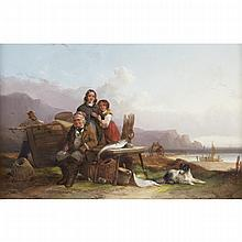 William Shayer Sr. (1787-1879), SOUTHHAMPTON COAST, Oil on canvas; signed lower left, 16
