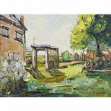 David Davidovich Burliuk (1882-1967), ARBOUR IN A GARDEN, Oil on canvasboard, signed lower right, 12