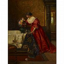 Marcus Stone (1840-1921), THE LOVE LETTER, Oil on panel; signed lower left, 17