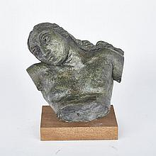 "Sir Jacob Epstein (1880-1959), ""SUNITA FRAGMENT"", Bronze with green and brown patination; titled ""Sunita Fragment"" and certified by Lady Epstein on the accompanying copy of the original receipt, Approximately 12.5"