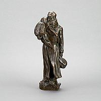 """Jules Leon Butensky (Russian/American, 1871-1947) EXILE, patinated bronze, base titled in Hebrew, height 13.2"""" - 33.5 cm., signed in the mould Copyright by J. B. Butensky, with foundry mark Jno. Williams Inc., N.Y. underside numbered 1464"""