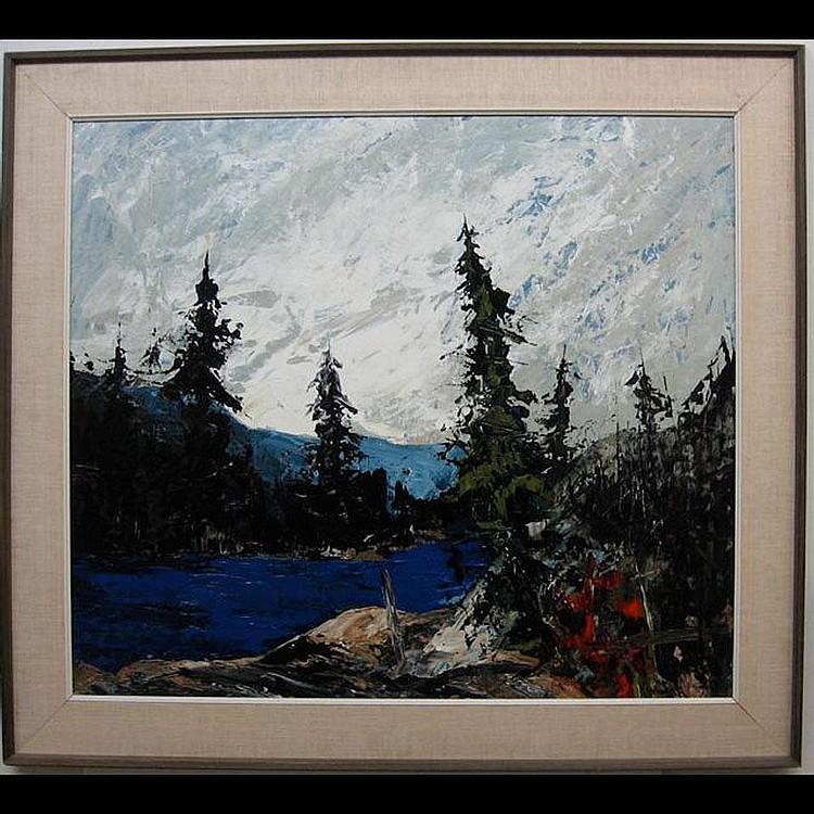 JOHN H. KINNEAR (CANADIAN, 1920-) EVENING LAKE