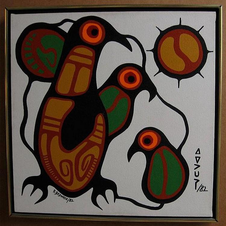 RICHARD BEDWASH (1936-) CANADIAN BIRD FAMILY;
