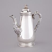 William IV Silver Coffee Pot, Charles Fox, London, 1834, height 10.2