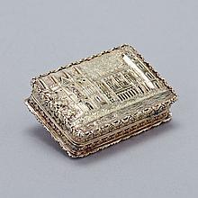 Victorian Silver-Gilt 'Castle-Top' Vinaigrette, Nathaniel Mills, Birmingham, 1837, length 1.5