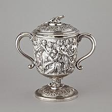 Late Georgian Silver Two-Handled Cup and Cover, c.1820, height 10.2