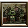 JAMES (JIM) A. BIRNIE (CANADIAN, 20TH CENTURY), SHADES OF A VANISHING ERA, OIL ON MASONITE; SIGNED LOWER RIGHT; TITLED TO LABEL VERSO, 32