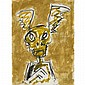 JOHN SCOTTGOLD AND YELLOW FEVER, mixed media on paper 29.5 ins x 22 ins; 73.8 cms x 55 cms