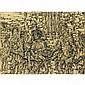 OSCAR DE LAS FLORESLA CONTIENDA, 2007, pen and ink on Japanese paper; signed 18.5 ins x 25 ins; 46.3 cms x 62.5 cms