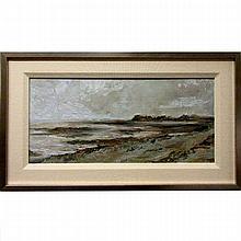 "DUNCAN WEBB (BRITISH, 1969-), ROAN HEAD STUDY #3, OIL ON STEEL; SIGNED ON REVERSE, 8.3"" x 17.8"" — 21.1 x 45.2 cm."