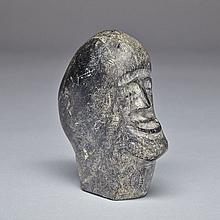 Unidentified, HEAD OF A SMILING INUK, stone, 4.75