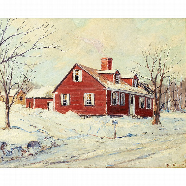 Guy Carleton Wiggins (1883-1962), American UP COUNTRY; Oil on canvasboard; signed lower right, titled and inscribed with artist's presentation verso16