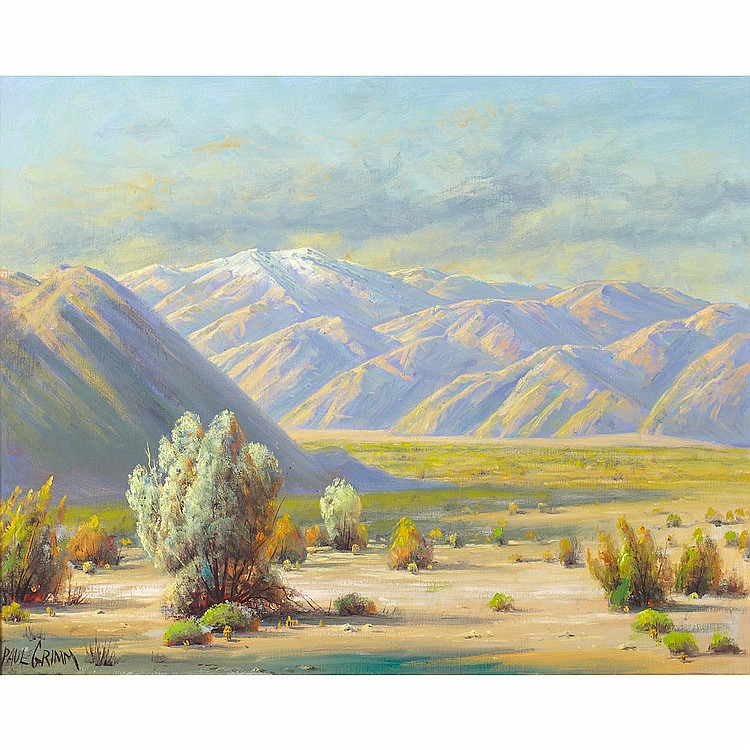Paul Grimm (1891-1974), American NEATH SAN GORGONIO; Oil on canvas; signed lower left, titled and dated