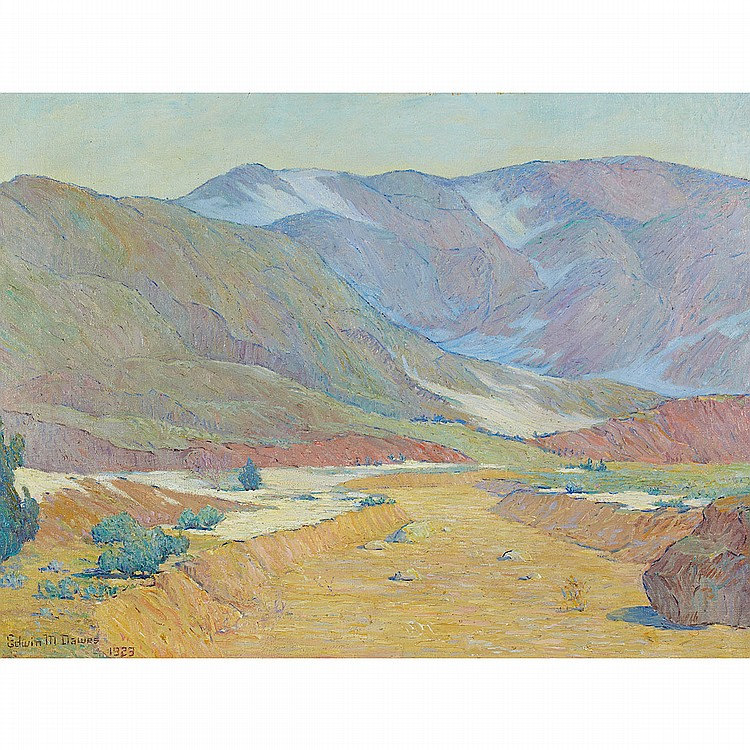 Edwin Munott Dawes (1872-1945), American DESERT LANDSCAPE; Oil on canvas; signed and dated 1923 lower left30