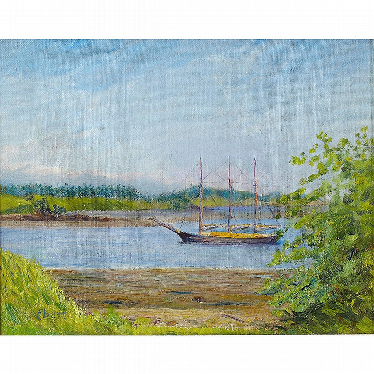 Charles H. Ebert (1873-1959), American OLD LYME HARBOUR; Oil on canvasboard; signed lower left, titled in pencil verso11