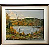 WILF FRANK GRIFFITHS (CANADIAN, 1917-2000), A LAKE IN ALGONQUIN PARK, OIL ON MASONITE; SIGNED LOWER RIGHT; SIGNED AND TITLED VERSO - Inventory No 2183, 24