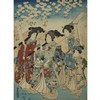 A SET OF TWO WOODBLOCK PRINTS, UTAGAWA TOYOKUNI (1769-1825)foxing and creases, in overall good condition, unexamined out of frame, 14.2