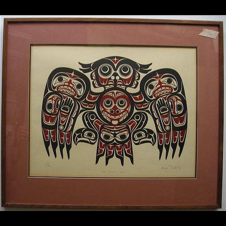 BEAU DICK (1956-) CANADIAN KWA-GIULTH OWL;