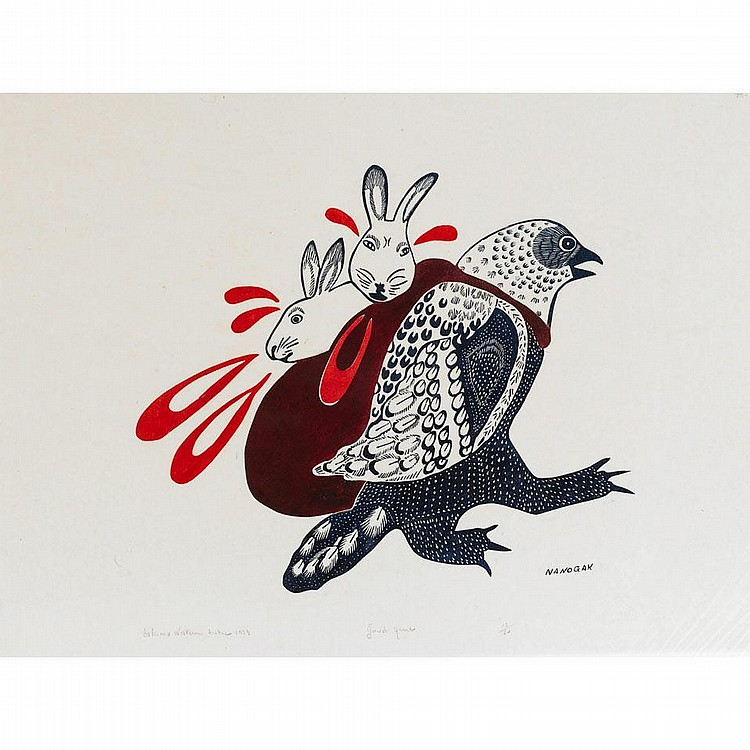 AGNES NANOGAK (1925-), W2-473, Holman GOOD HUNT,