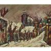 "HENRI D'ANTY (1910-1998), FRENCHWINTER STREET SCENEOil on canvas; signed ""dAnty"" lower right18.5"