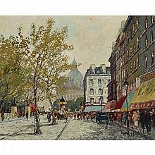 "MAURICE BRISSON (1915-), FRENCHPARIS STREET SCENEOil on canvas; signed ""Brisson"" lower right,24"" x 30"" — 61 x 76.2 cm.Estimate: $800—1,200"