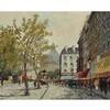 "MAURICE BRISSON (1915-), FRENCHPARIS STREET SCENEOil on canvas; signed ""Brisson"" lower right,24"