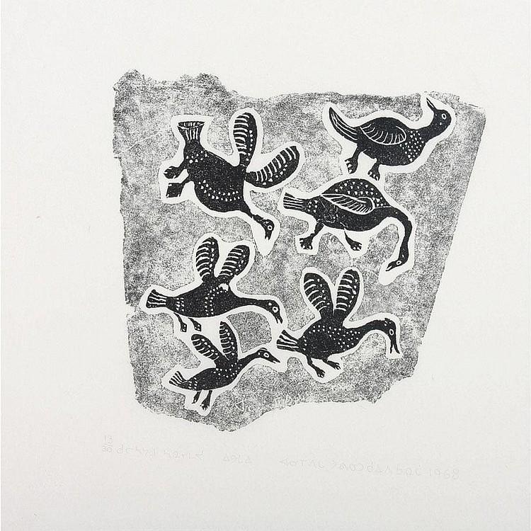 INUIT ART: ANNIE MIKPIGA (1900-1984), E9-1389,