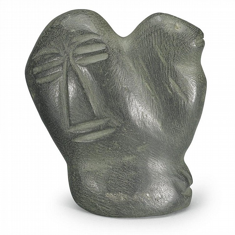 JOSEPH ANGATAJUAK (1935-1976), TRANSFORMATION, stone, 5