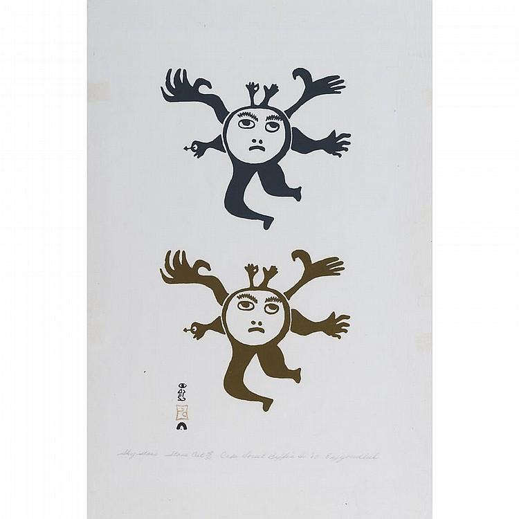 EGEVADLUQ RAGEE (1920-1983), E7-1013, Cape DorsetSKY STARS, stonecut, 1960, 48/50, unframed, 18.5