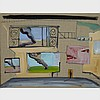 STEPHEN LACK, CONTESSA'S COURTYARD, acrylic on canvas, 15 ins x 20 ins; 38.1 cms x 50.8 cms, Stephen Lack, Click for value