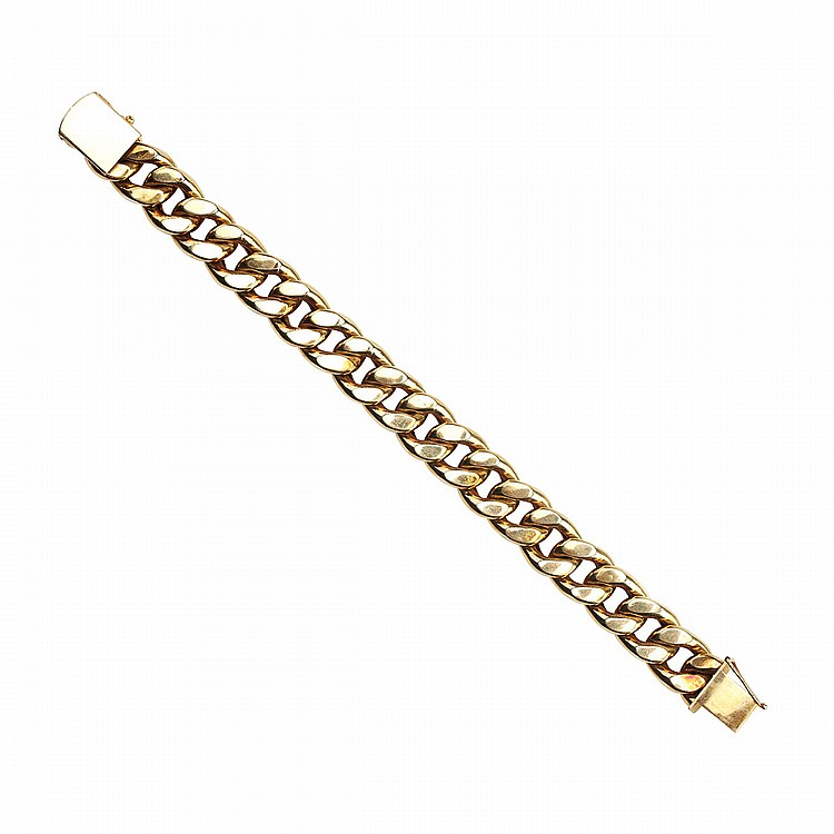 14k Yellow Gold Curb Link Bracelet length 8