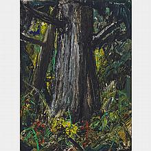 ARTHUR LISMER, O.S.A., R.C.A., FOREST INTERIOR, oil on panel, 16 ins x 12 ins; 40.6 cms x 30.5 cms