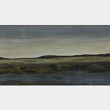 JEAN-PAUL LEMIEUX, R.C.A., PAYSAGE, oil on canvas, 11 ins x 20 ins; 27.9 cms x 50.8 cms