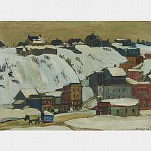 KATHLEEN MOIR MORRIS, A.R.C.A., POINT LEVY, QUEBEC, CIRCA 1925, oil on panel, 10.25 ins x 14 ins; 25.4 cms x 35.6 cms