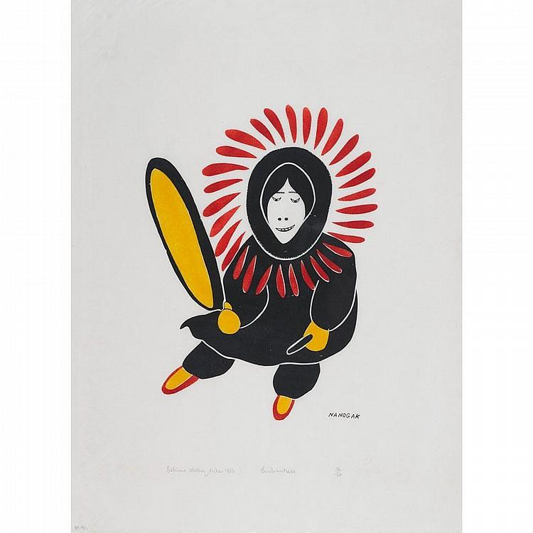AGNES NANOGAK (1925-), W2-473, Holman ENCHANTRESS