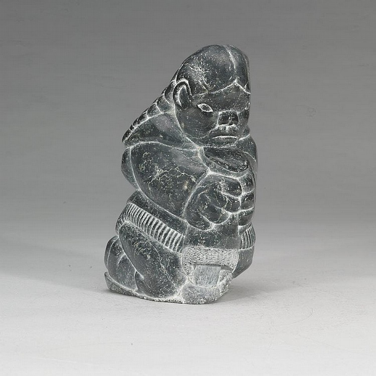 DAVIDEE SAUMIK (1925-1984), E9-876, Inukjuak WOMAN WITH BOOT
