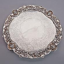 George III Silver Circular Salver, John Schofield, London, 1790, diameter 15.4