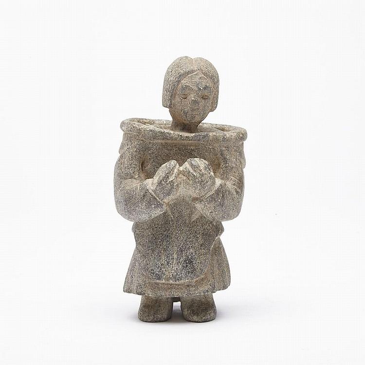 AVINGAK LUCY KADYULIK (1937-), WOMAN, stone, 5