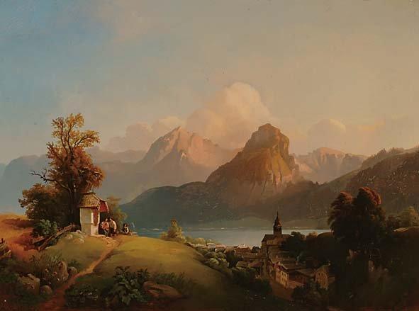 Austrian Art Franz Barbarini (1804-1873)