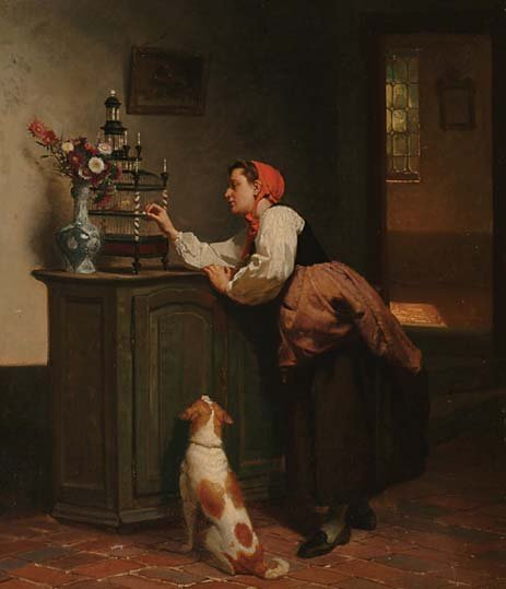 Belgian Art Théodore Gérard (1829-1895)